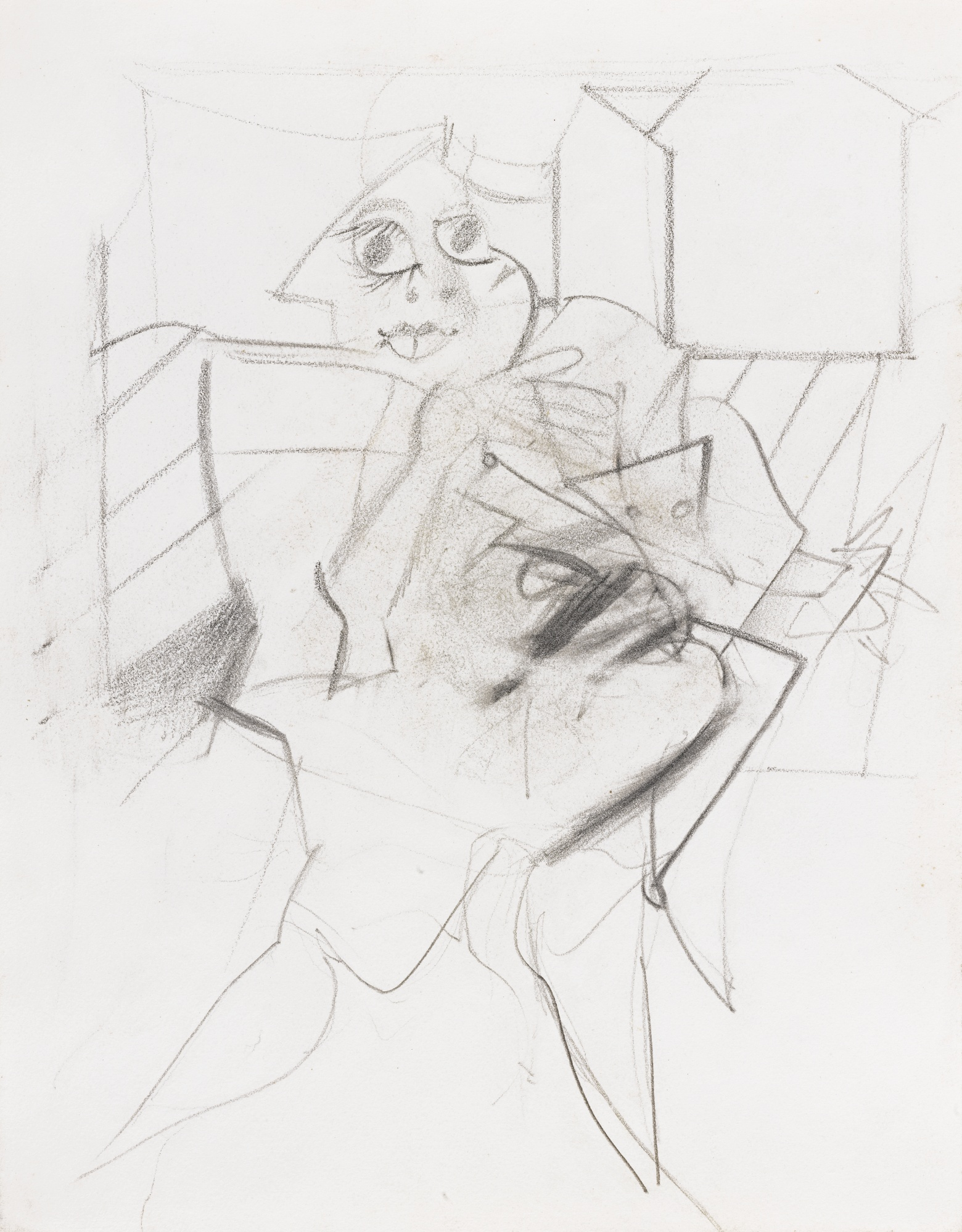 Willem de Kooning-Untitled (Woman)-1950