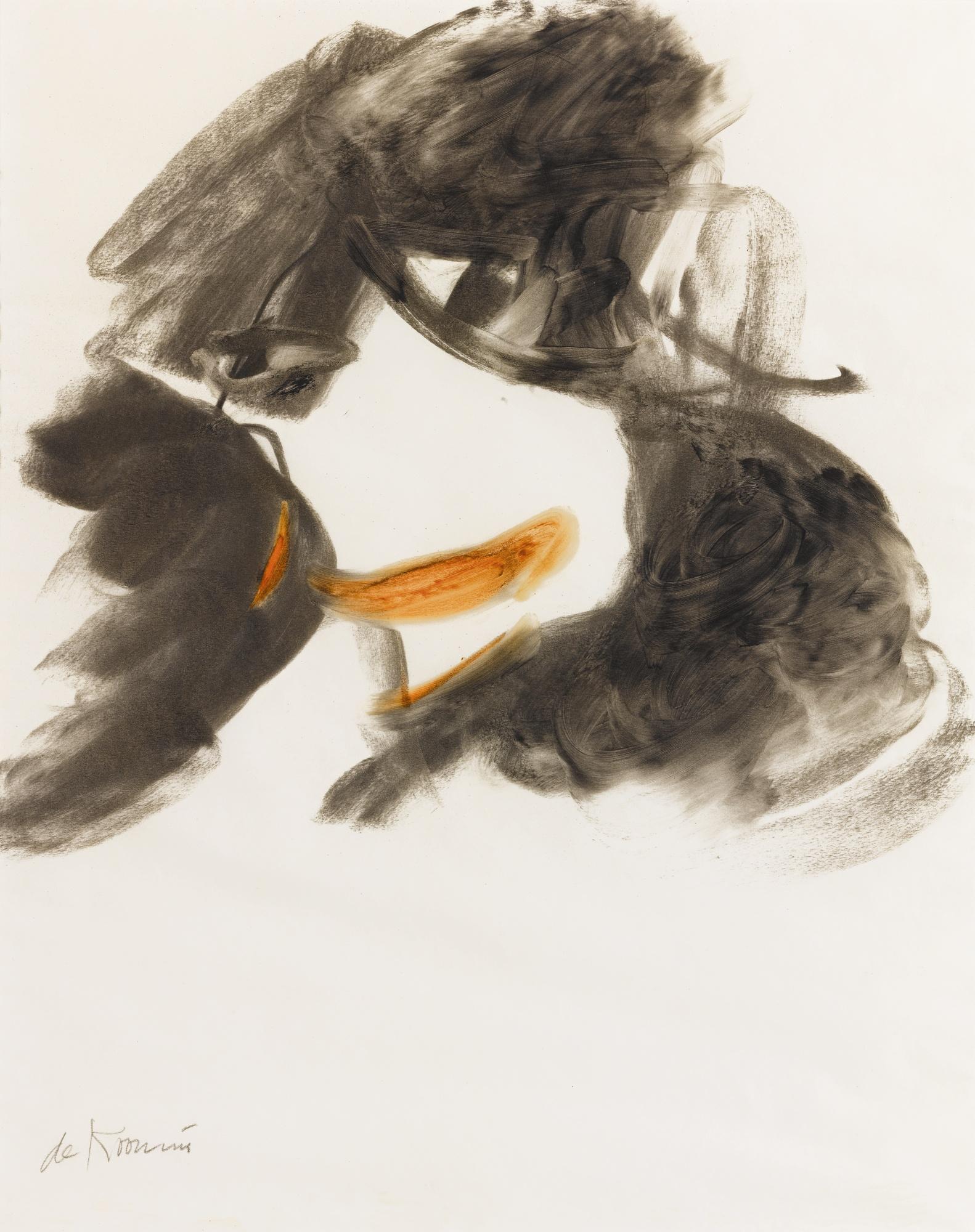Willem de Kooning-Untitled (Woman Study)-1964