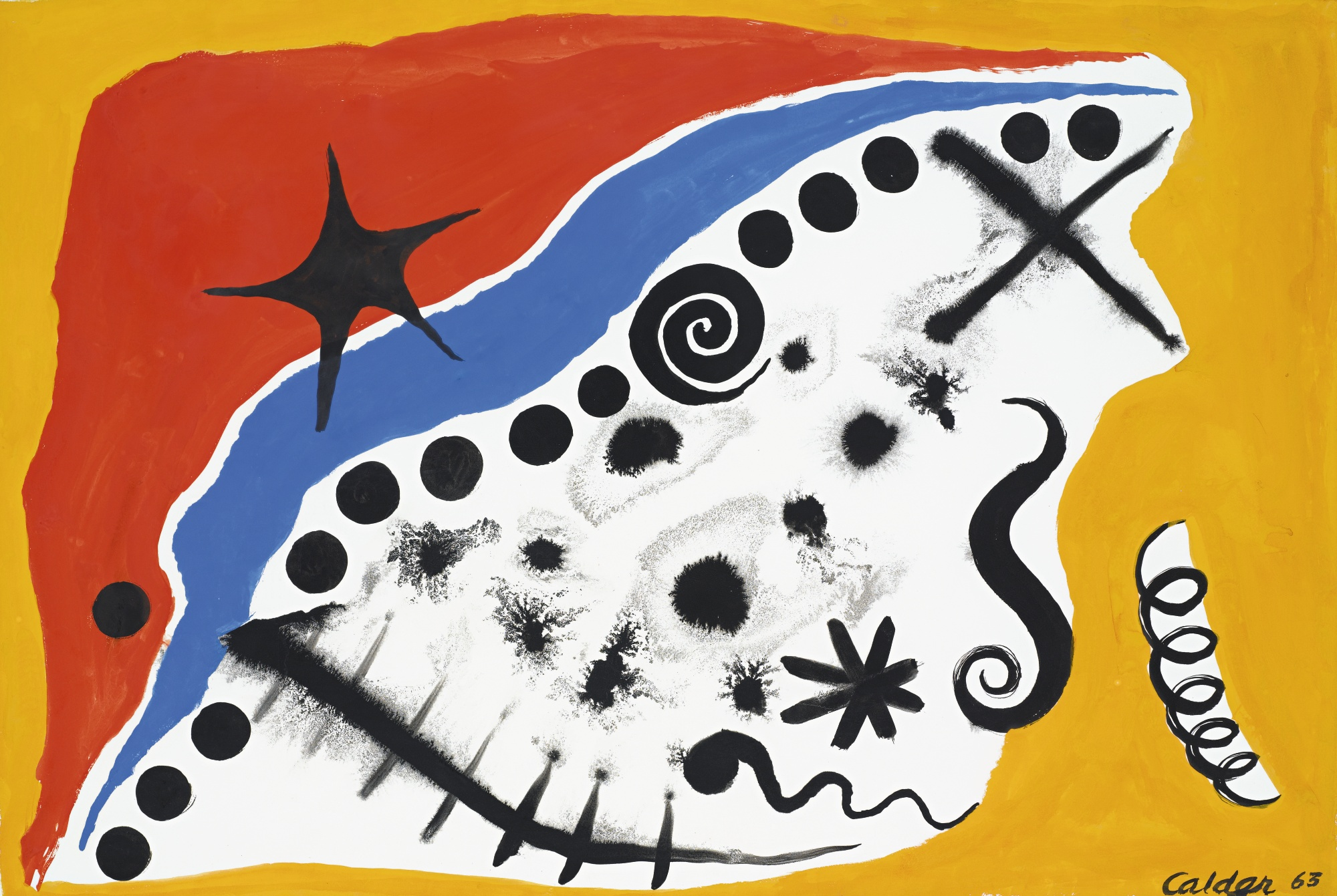 Alexander Calder-Dots Along The Blue-1963