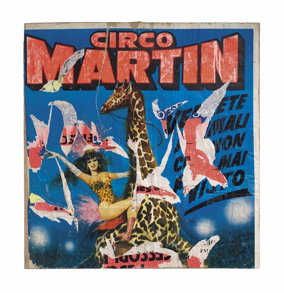 Mimmo Rotella-Circo Martin-1990