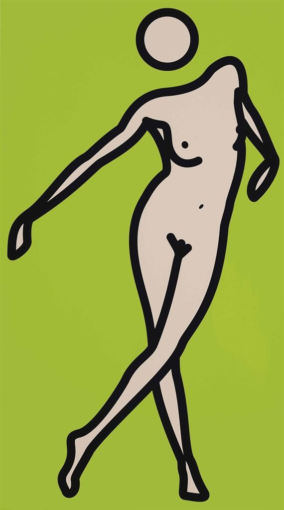 Julian Opie-Caterina Nude. 03-2009