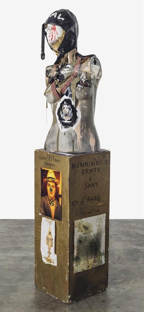 Jonathan Meese-Die Fliergerin Venus 8 mit Pour le Merite 9. Klasse-2000