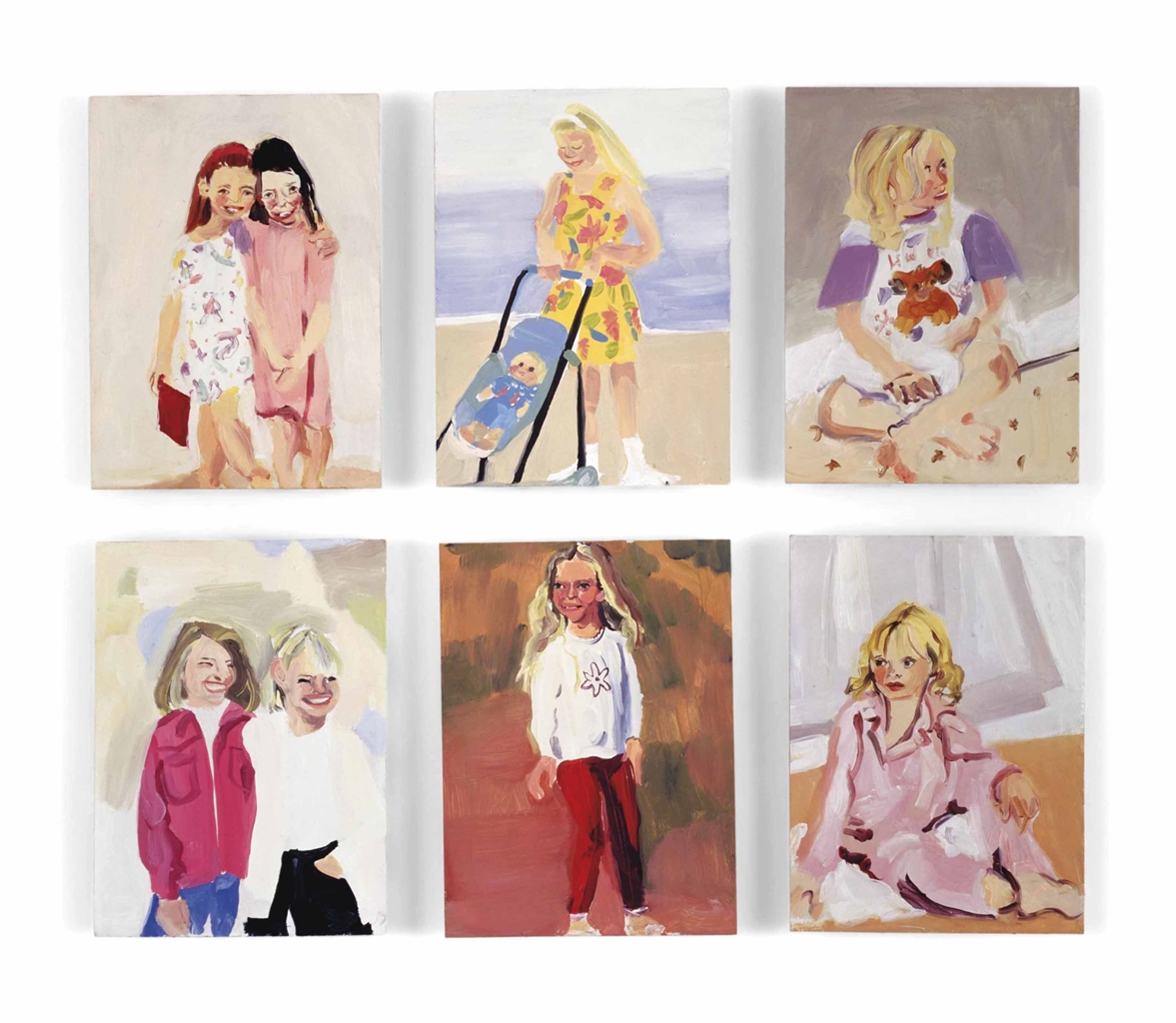 Chantal Joffe-(i) Little Girls 5; (ii) (iv) (v) Untitled; (iii) (vi) Little Girl III-1995