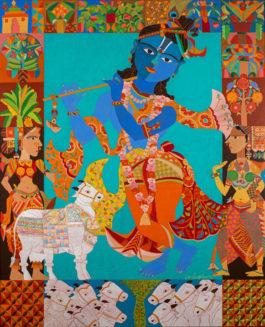 K. Laxma Goud-Untitled (Krishna)-2016