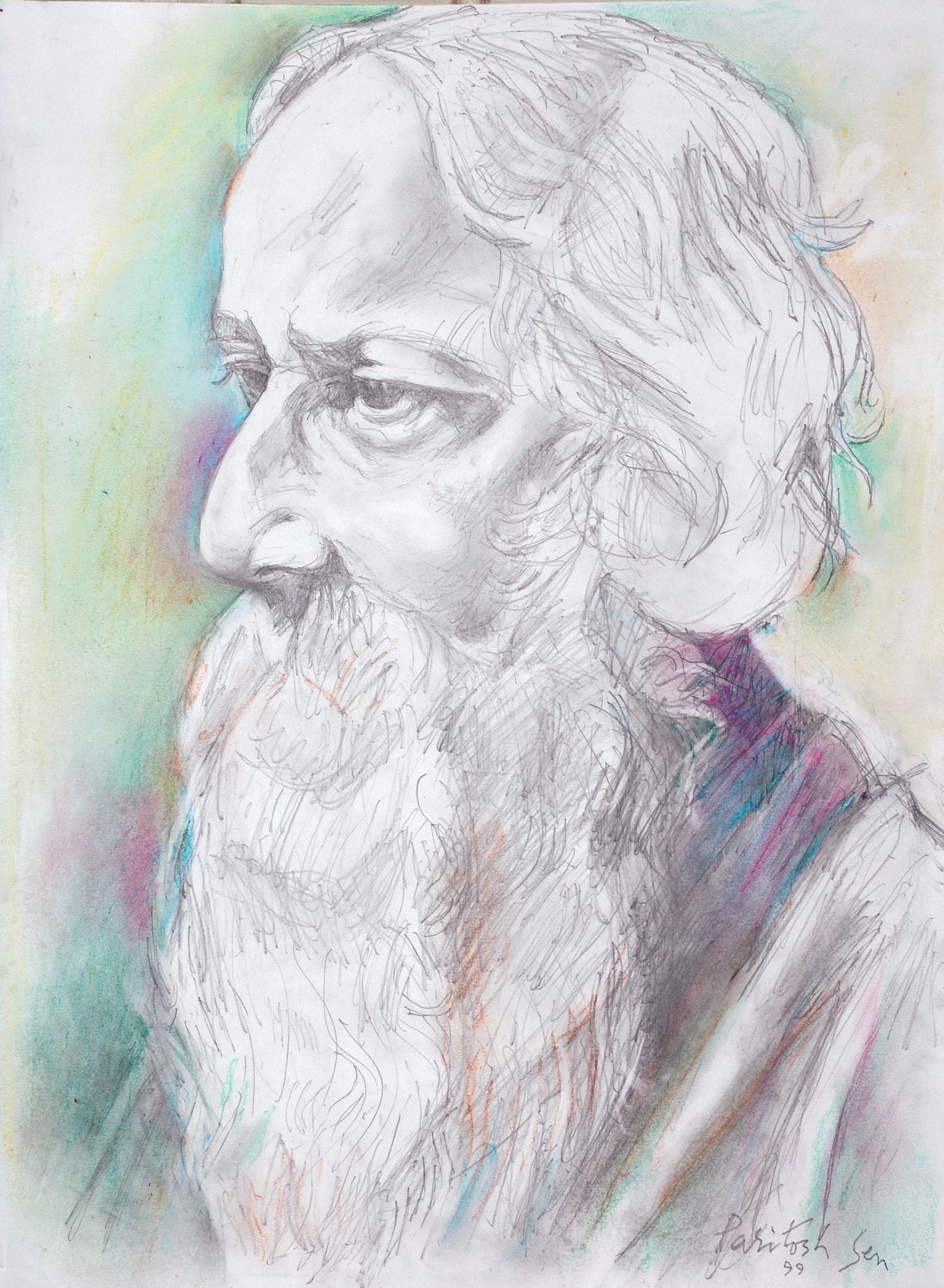 Paritosh Sen-Portrait of Rabindranath Tagore-1999