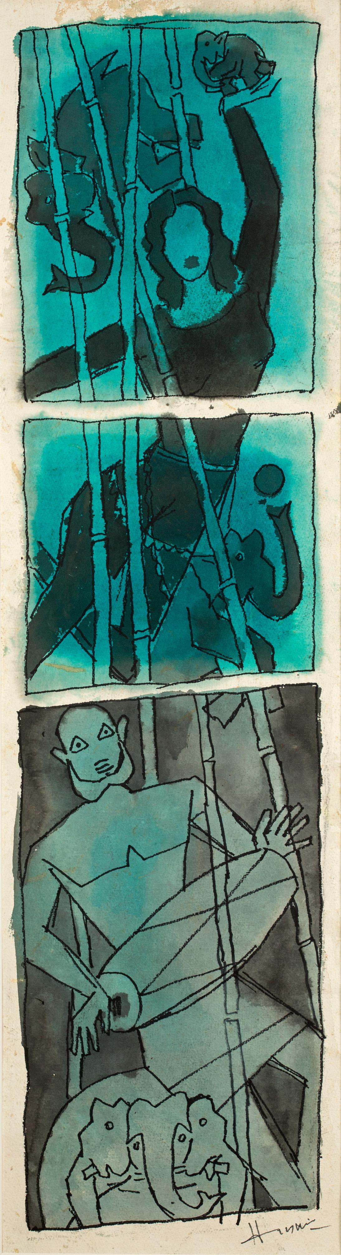 Maqbool Fida Husain-Untitled (Gaja Gamini)-2000