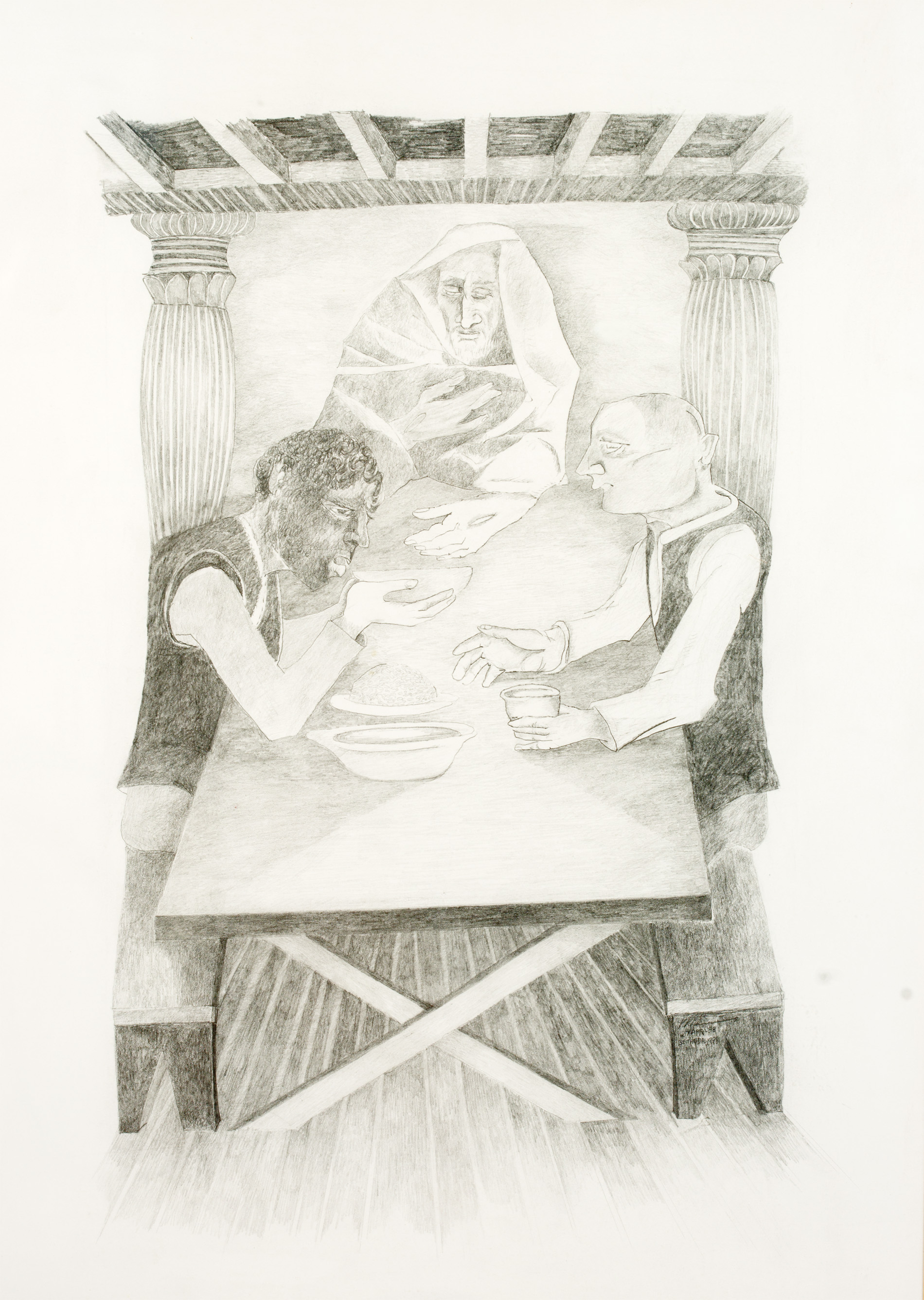 Krishen Khanna-Untitled (Supper at Emmaus)-1998