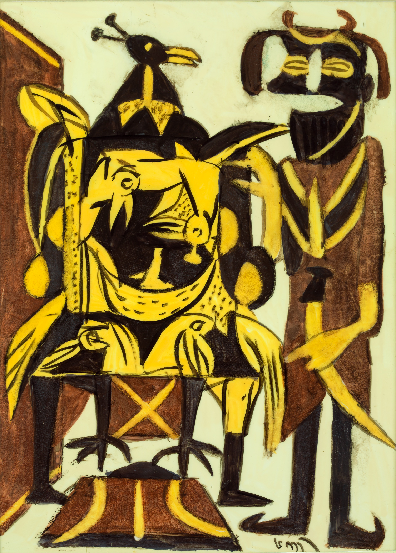 K.G. Subramanyan-Peacock Throne-2002
