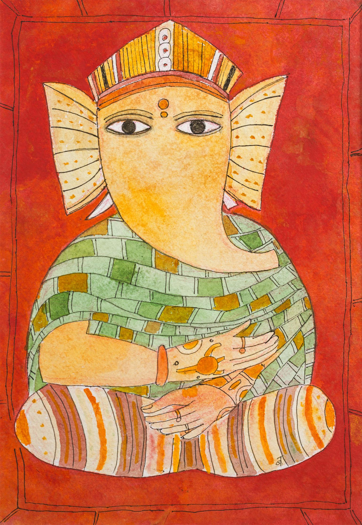 Badri Narayan-Shri Ganeshji with tatooed Hands-2011
