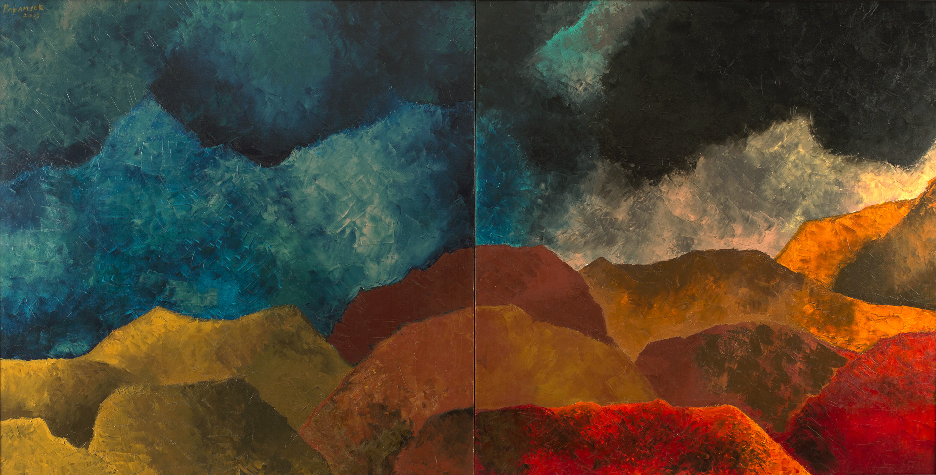Akbar Padamsee-Untitled (Mirror Image)-2003