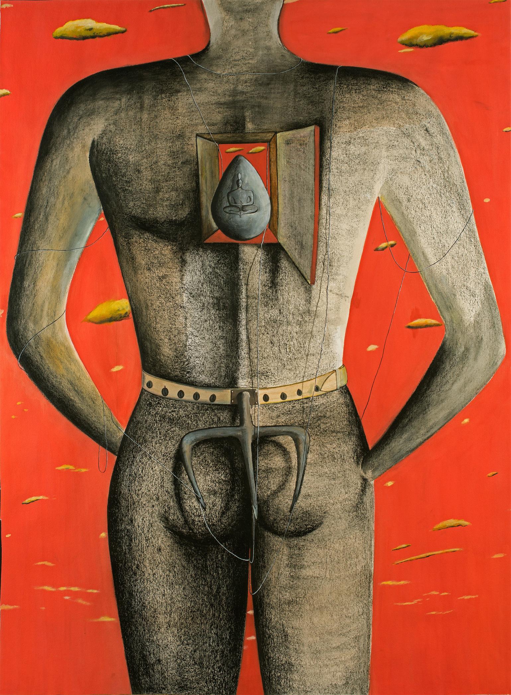 Surendran Nair-Untitled (Corollory Mythologies)-1996