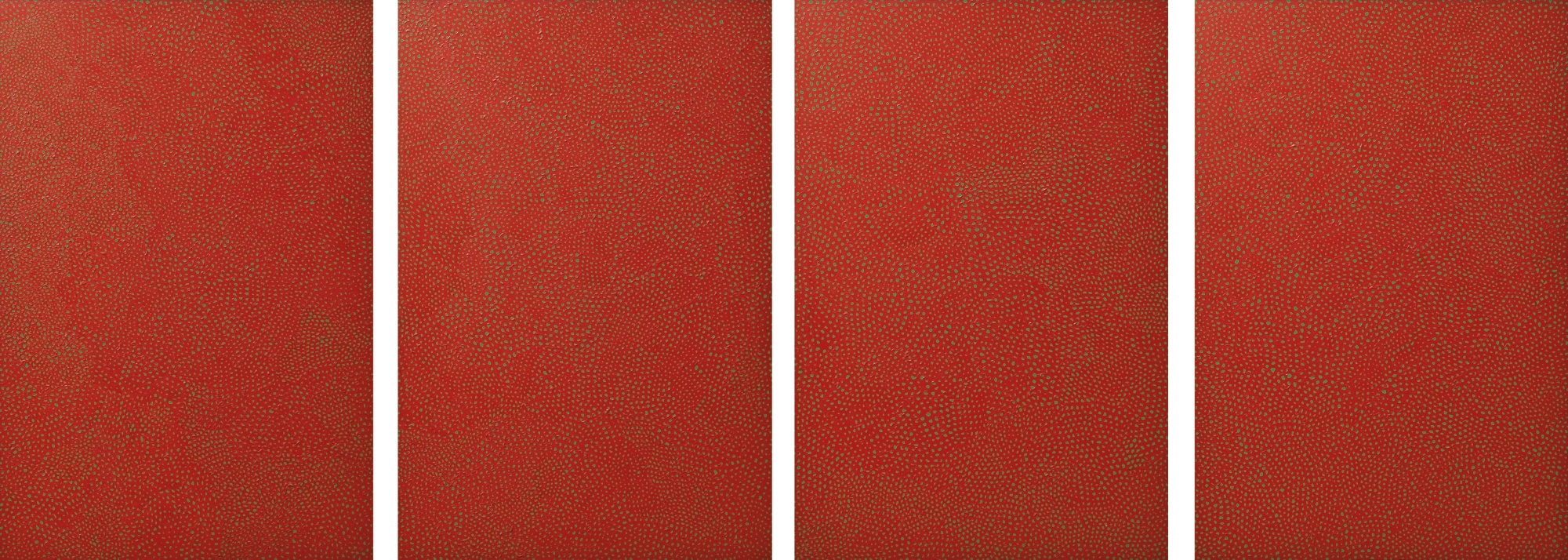 Yayoi Kusama-Infinity-Nets (Howaz) (Quadriptych)-2005