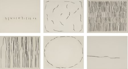 Lee Ufan-From Points And Lines (Set Of Six)-1982