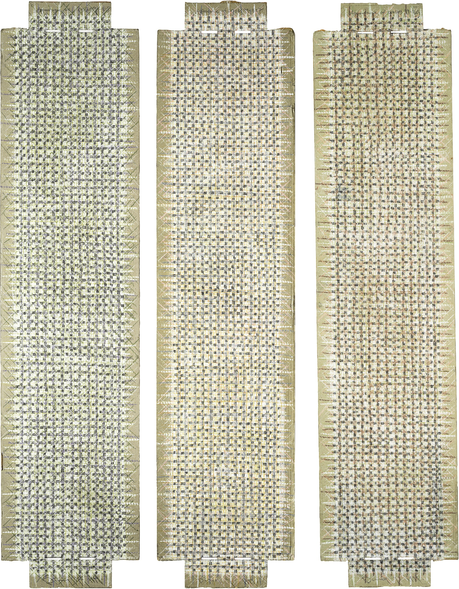Ding Yi-Appearance Of Crosses B25 B27 And B28 (Three Works)-1999