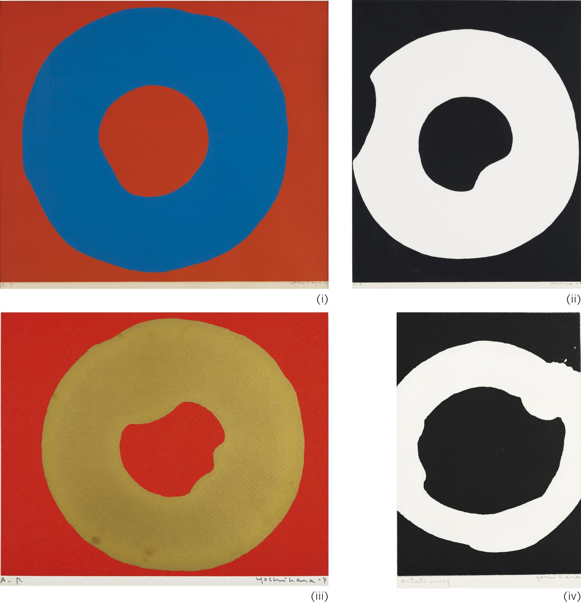 Jiro Yoshihara-Work (Four Ap Works)-1969