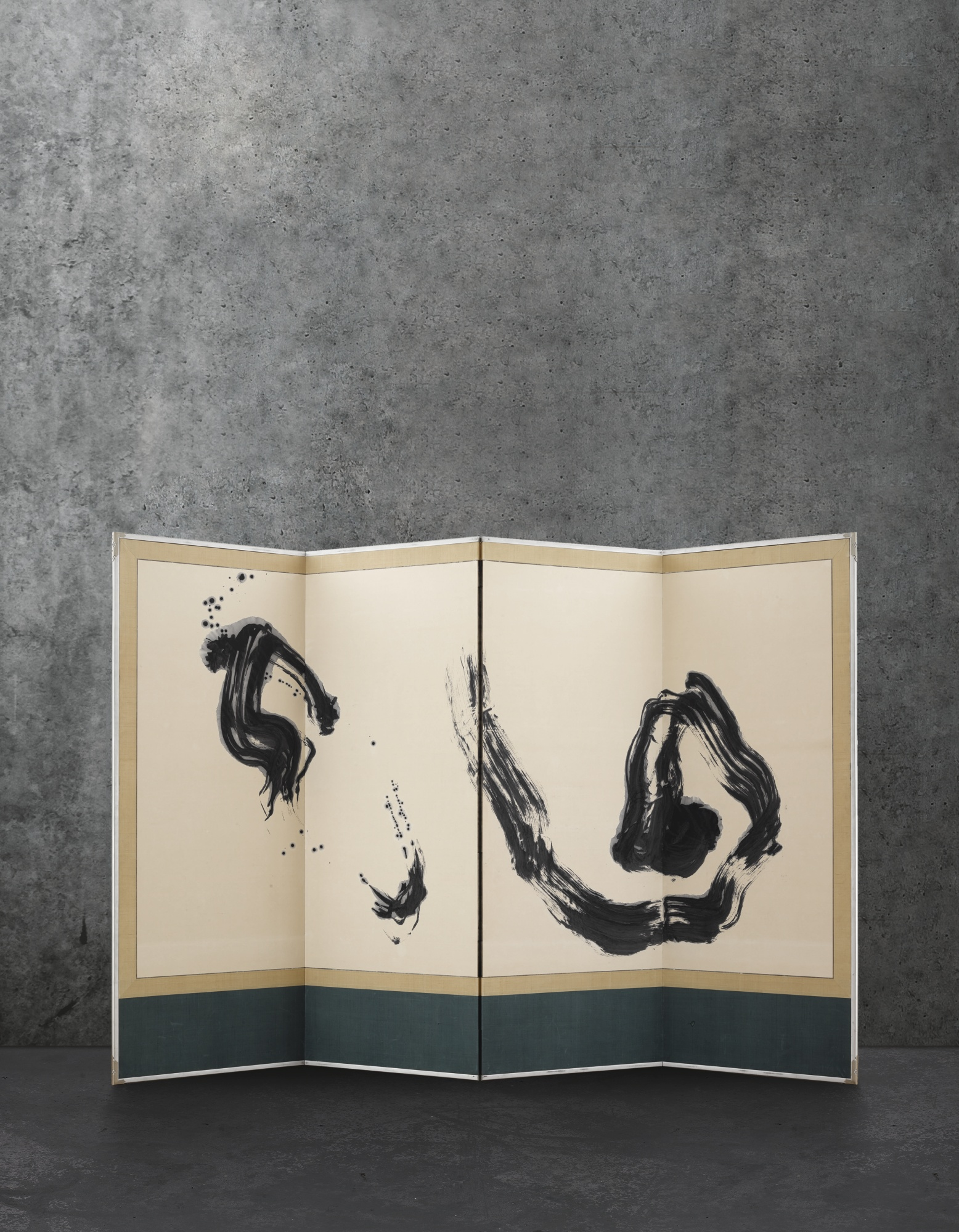 Shiryu Morita-Kaiko (Quadriptych Folding Screens)-1967
