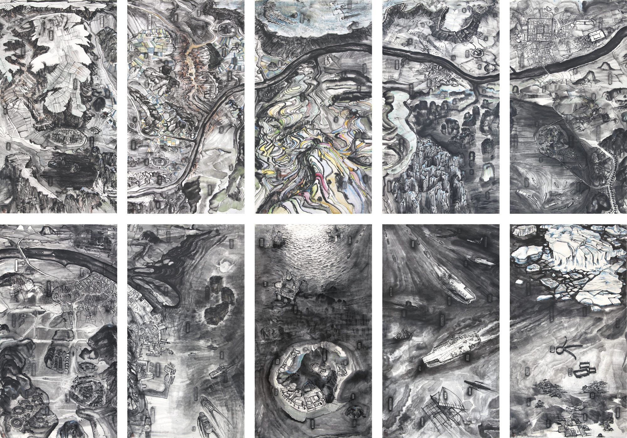 Qiu Zhijie-Bird's Eye View (Set Of Ten)-2013