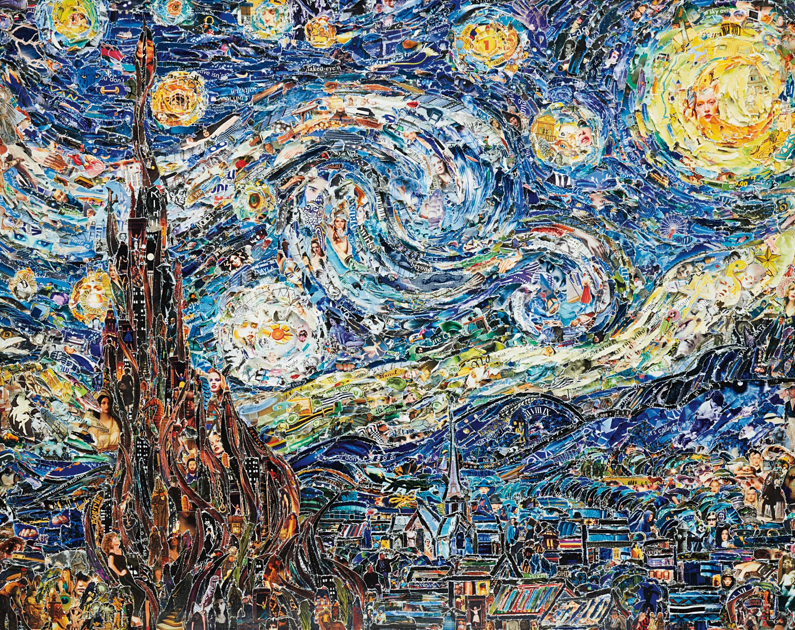 Vik Muniz-Starry Night, After Van Gogh From Pictures Of Magazines 2-2012