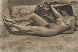 Edward Weston-Untitled (Tina On The Azotea, With Kimono)-1924