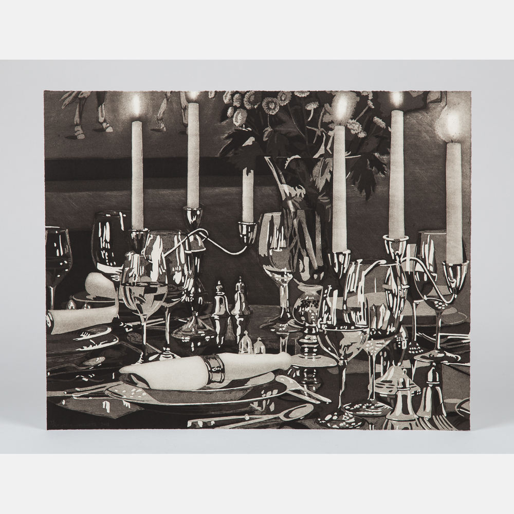 Julia Jacquette-My Houses (Dining Room with Horse Painting)-2008