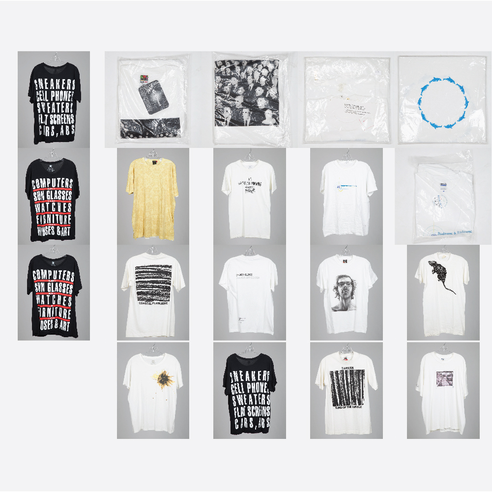 Vic Muniz, Felix Gonzales-Torres, Giovanni Jance, Dave Muller, Chuck Close, Damien Hirst, Cai Guo-Qiang, Barbara Kruger, Bill Radawec - Artist Designed T-Shirts-