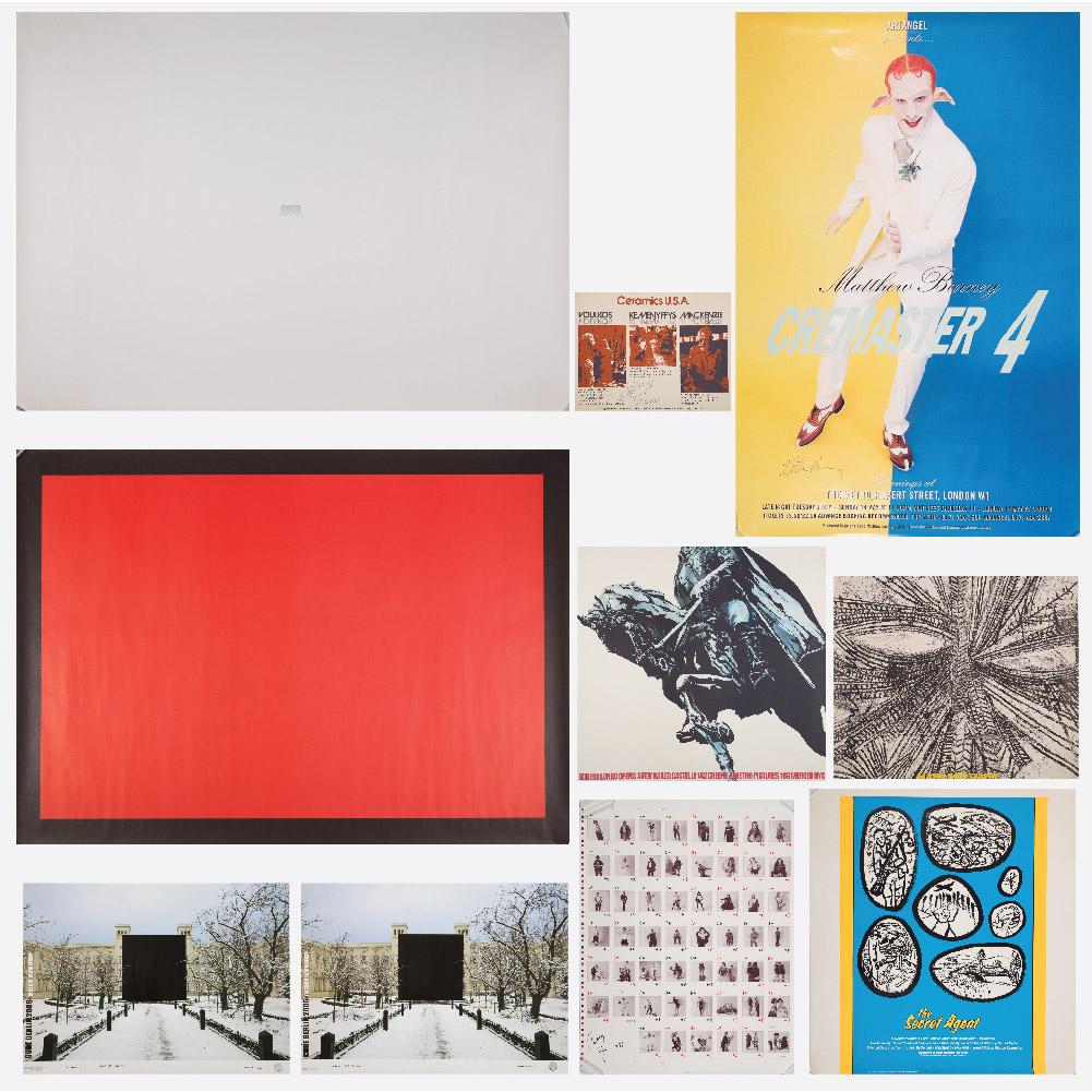 Matthew Barney, Cath Opie, Robert Longo, George Schneider, Mark Grotjahn, Pete Voulkos and Robin Winters - 10 Exhibition Posters-