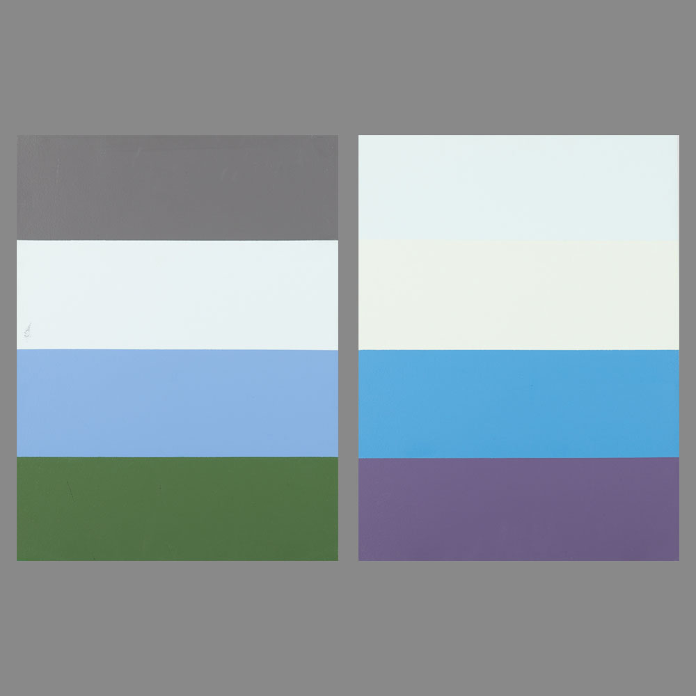 William Radawec-Two Paintings from the 'Color Chip' Series-1999