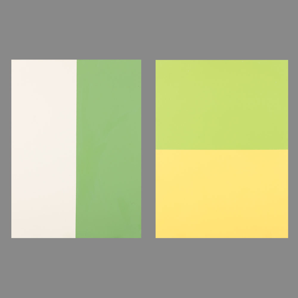 William Radawec-Two Paintings from the 'Color Chip' Series-2004