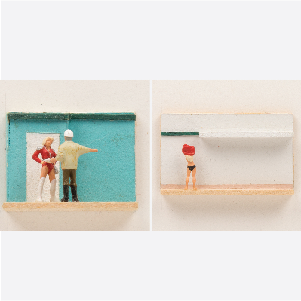 William Radawec-Two Dioramas from 'A Study' Series-
