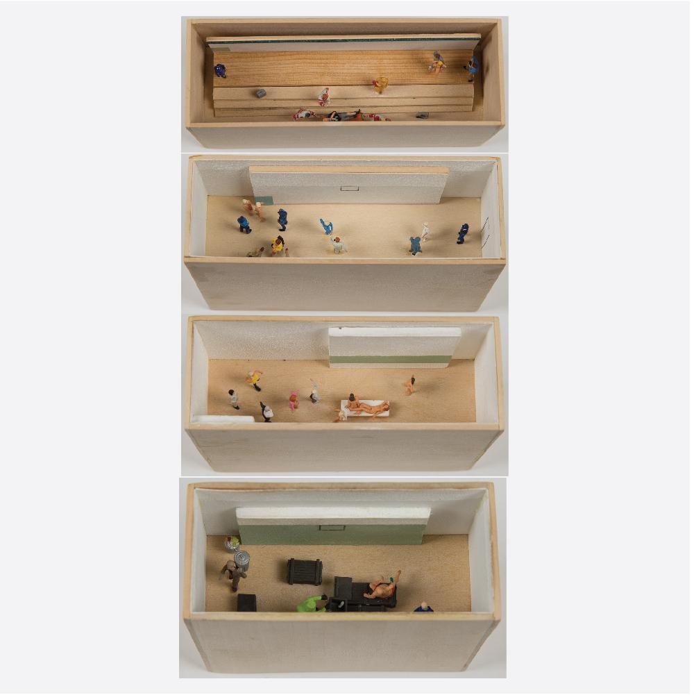 William Radawec-Four Dioramas from 'A Study' Series-2009