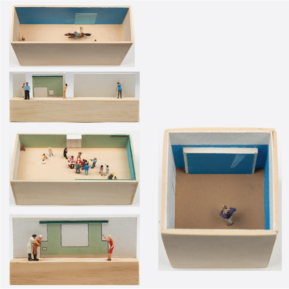 William Radawec-Five Dioramas from 'A Study' Series-2009