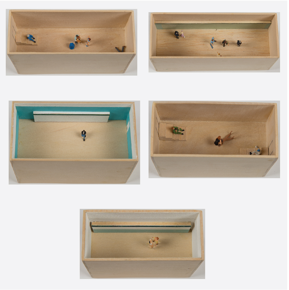 William Radawec-Five Dioramas from 'A Study' Series-