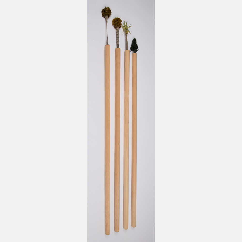 William Radawec-Four Sticks from the 'Walking Stick' Series-