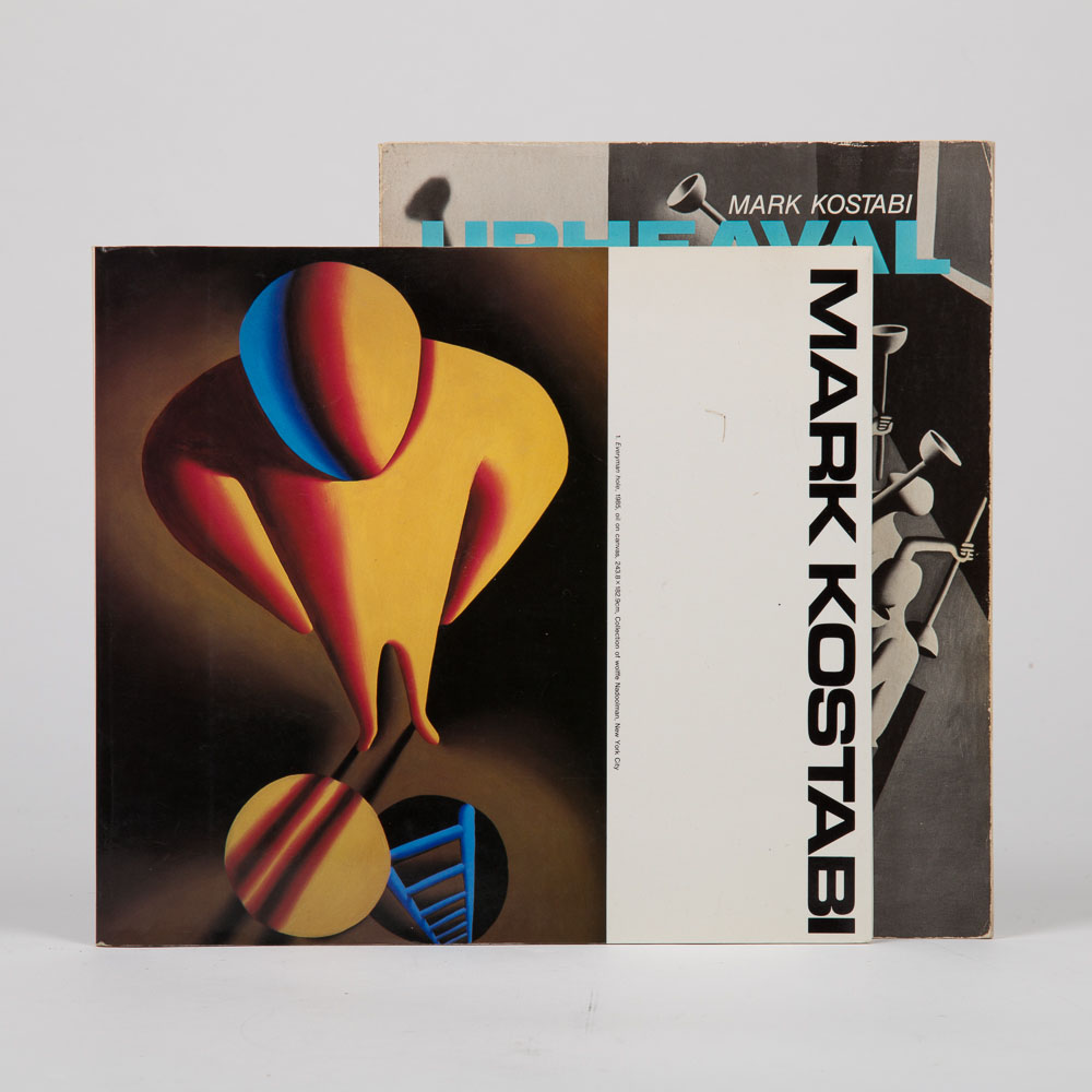Mark Kostabi, Walter Robinson - 2 Signed Books Related to Mark Kostabi-