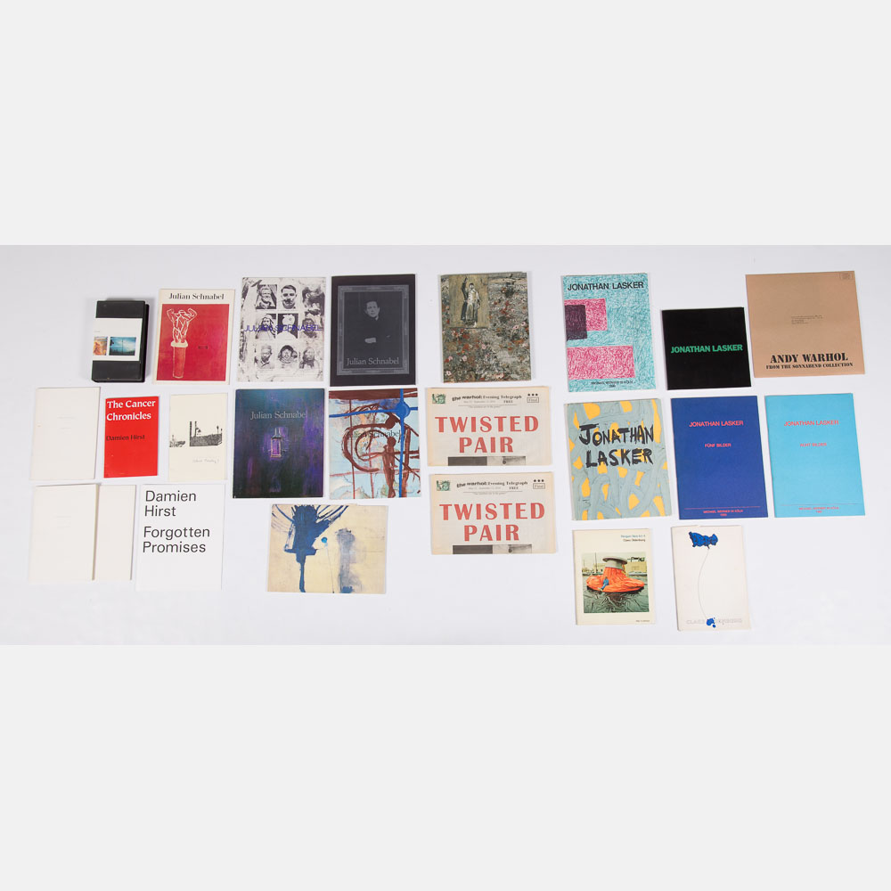 Andy Warhol, Claes Oldenburg, Julian Schnabel, Jonathan Lasker, Enid Baxter, Damien Hirst, Anselm Kiefer, Barbara Bloom - Exhibition Catalogs-