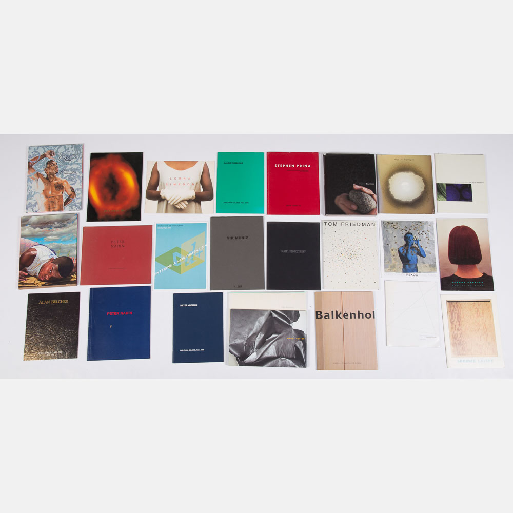 Exhibition Catalogs for Single Artist Shows-