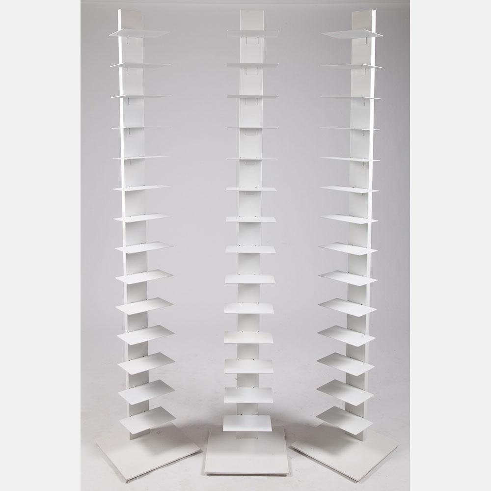 Three White Sapien Bookcases-