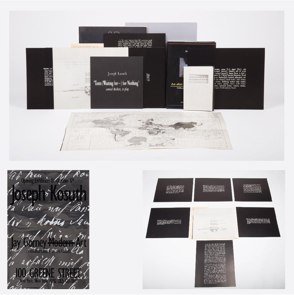 Joseph Kosuth-Notebook on Water-1966