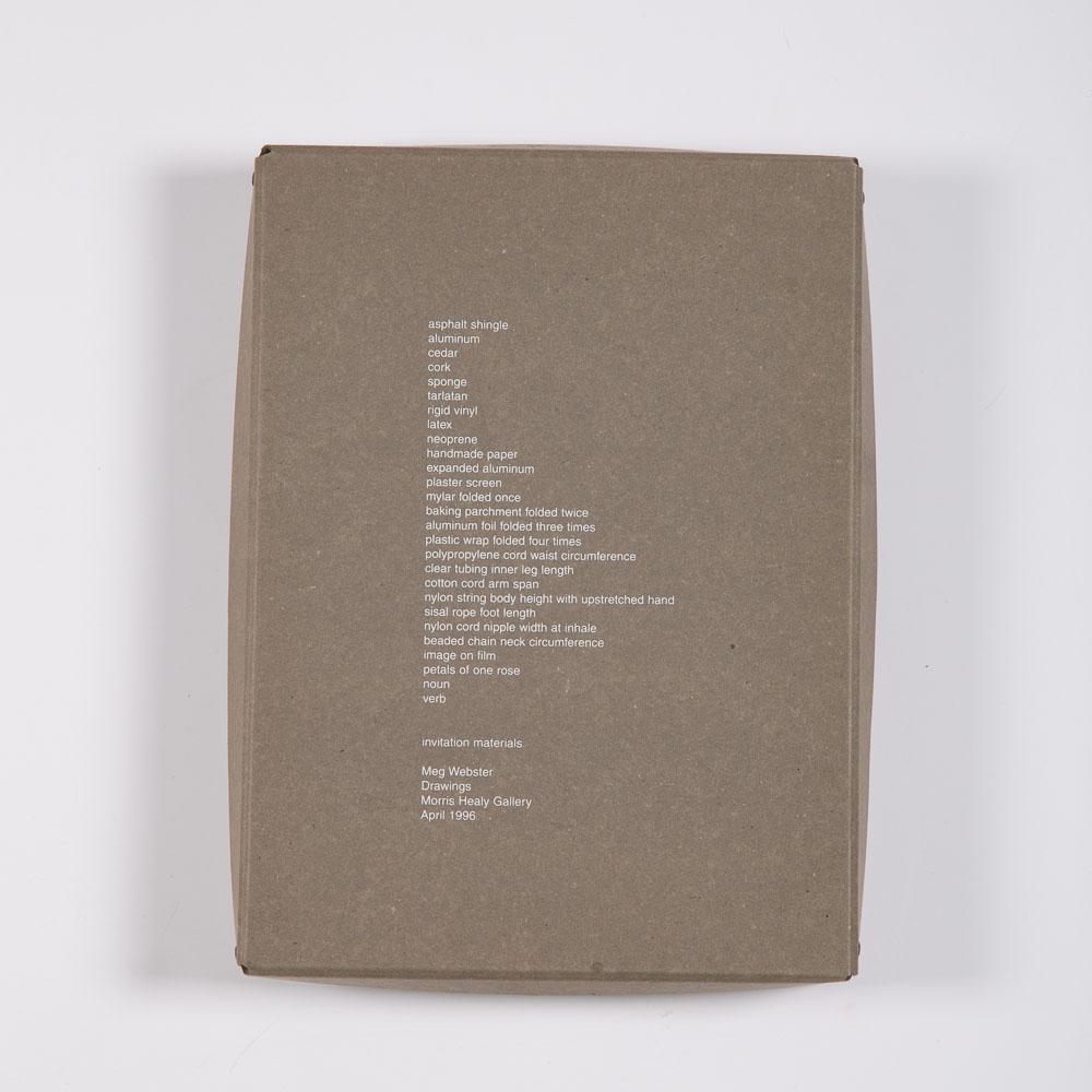 Meg Webster-Invitation Materials-1996