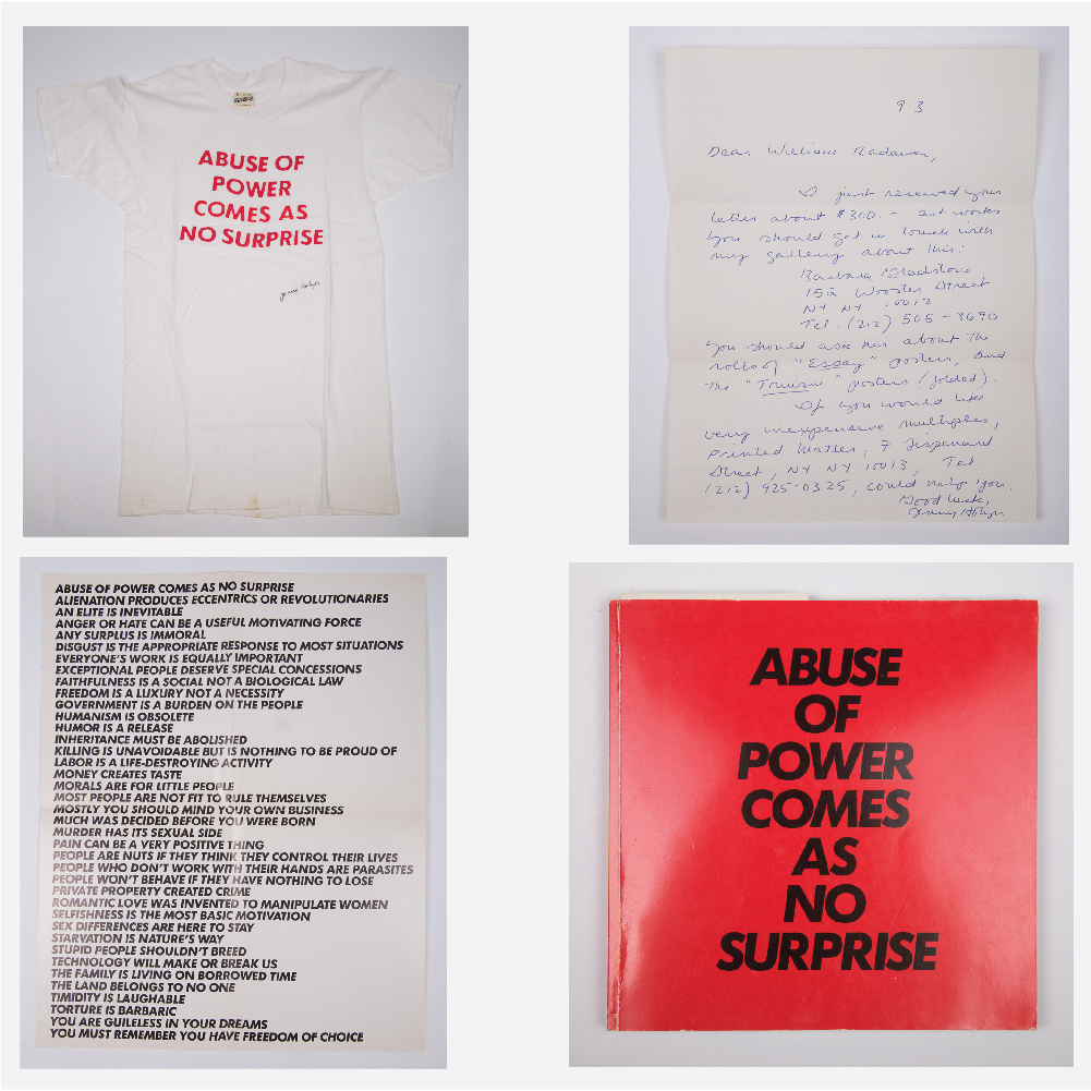 Jenny Holzer Signed T-Shirt-