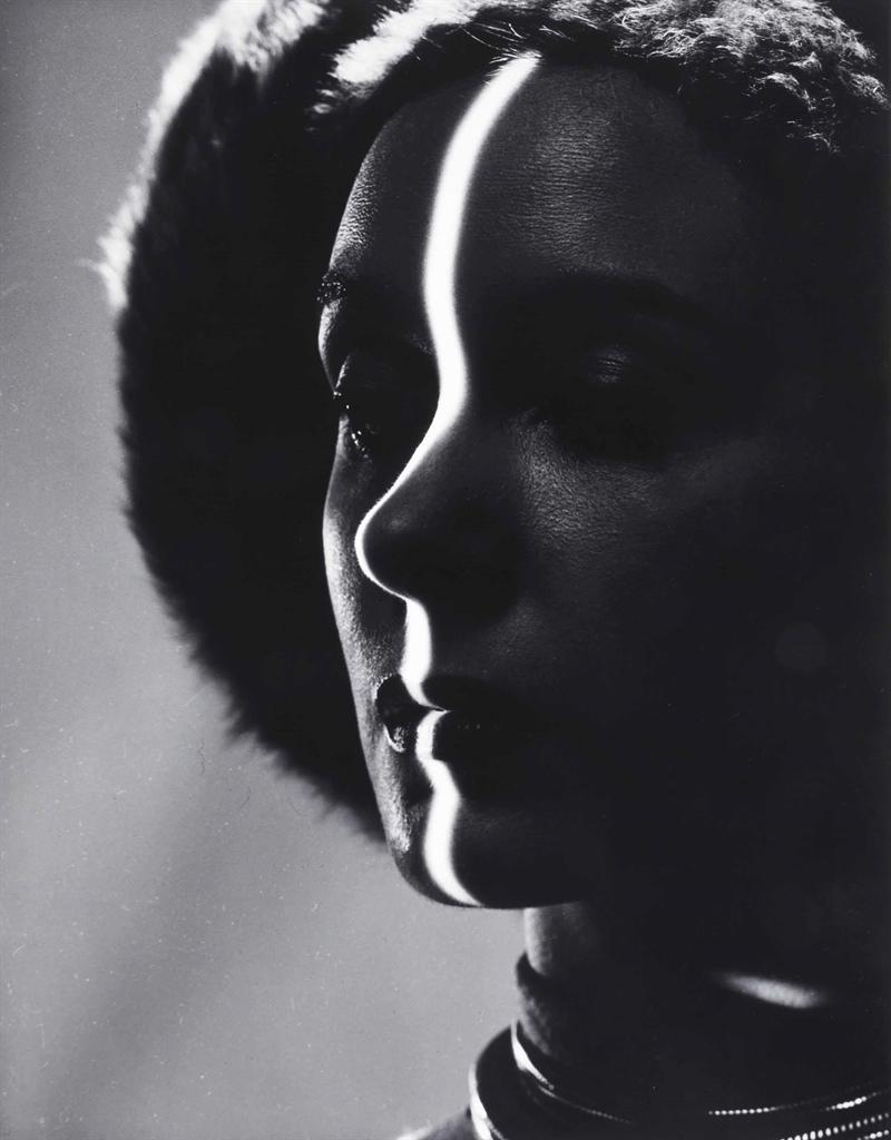 Erwin Blumenfeld-Shadow Profile, New York-1944