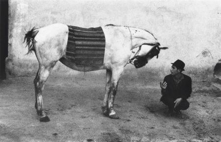 Josef Koudelka-Man with horse, Romania-1968