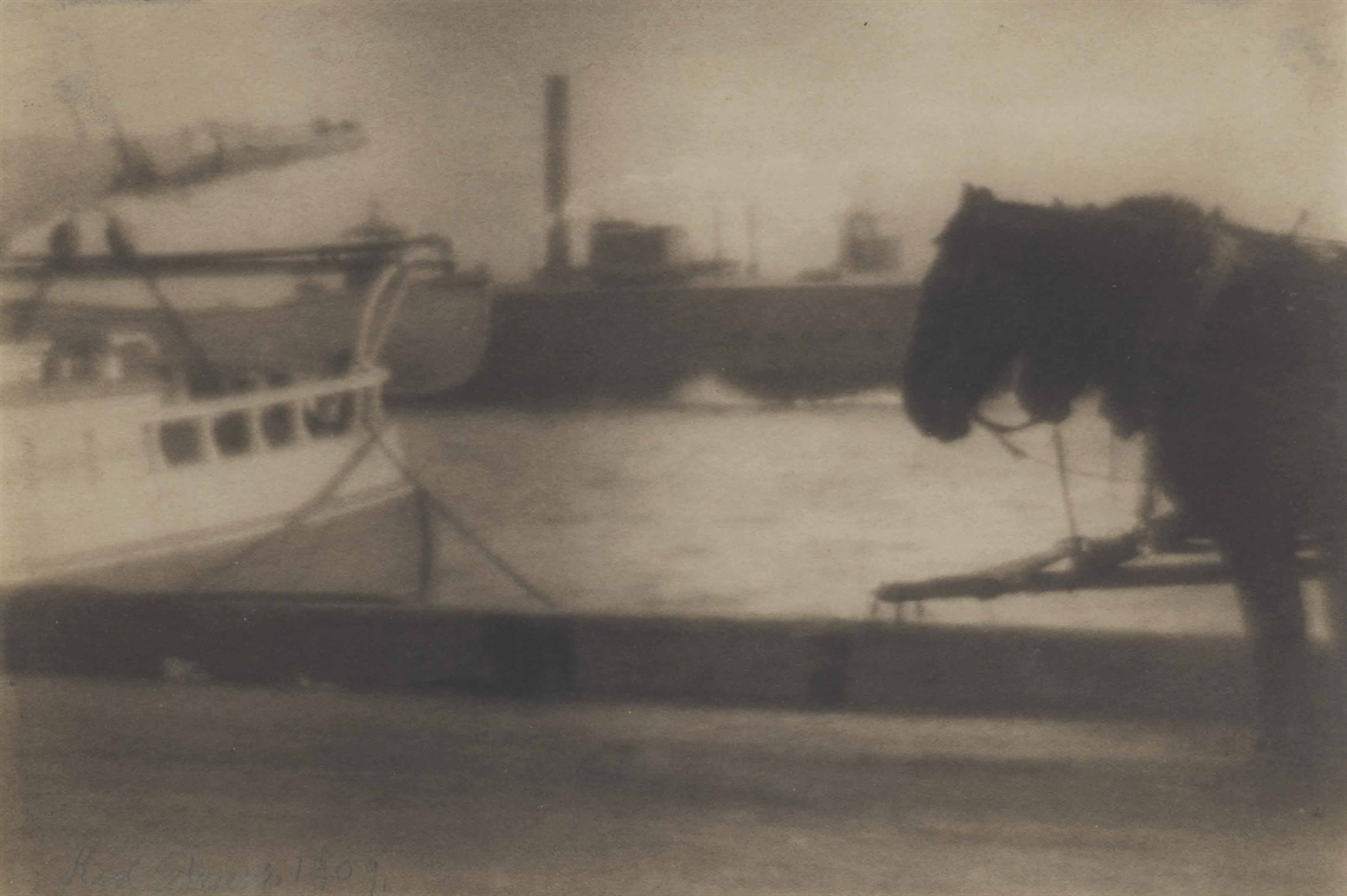 Karl Struss-Waterfront East New York-1909