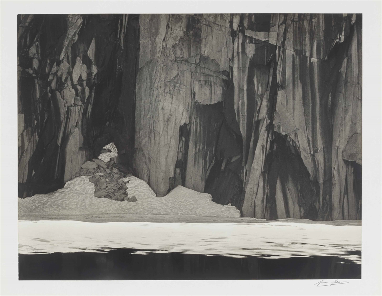 Ansel Adams-Frozen Lake and Cliffs, Kaweah Gap, Sierra Nevada, California-1932