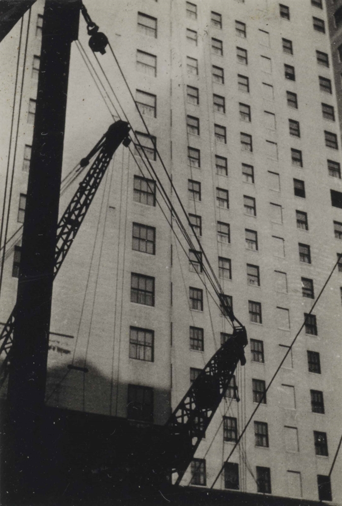 Walker Evans-Untitled (Architectural Study with Cranes and Cables)-1929