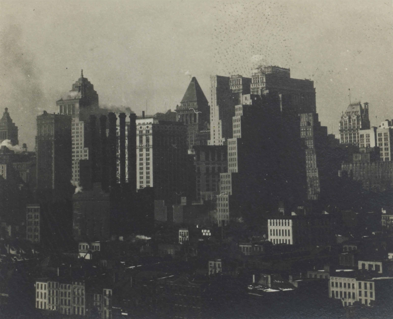 Walker Evans-Untitled (Manhattan Skyline from Brooklyn Bridge)-1930