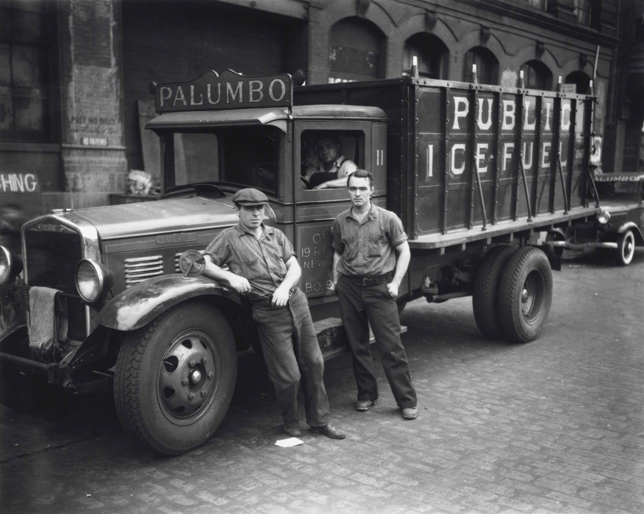 Walker Evans-Untitled (Palumbo Public Ice-Fuel Corp. Truck, New York)-1934