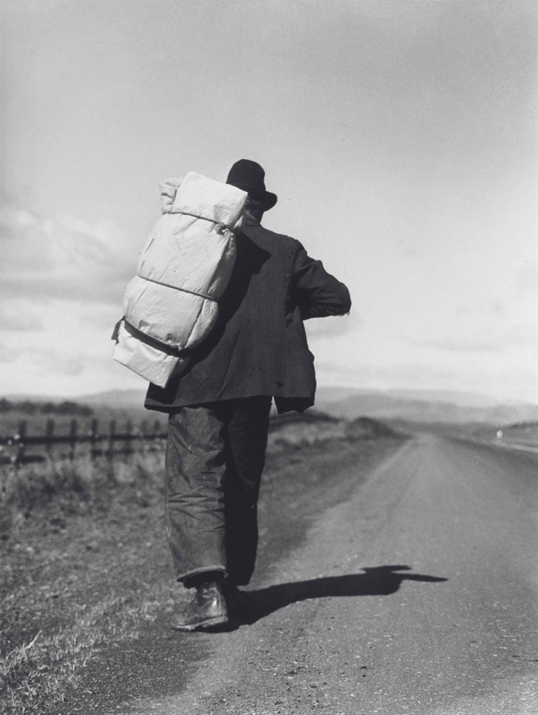 Dorothea Lange-Migrant Worker on California Highway-1935