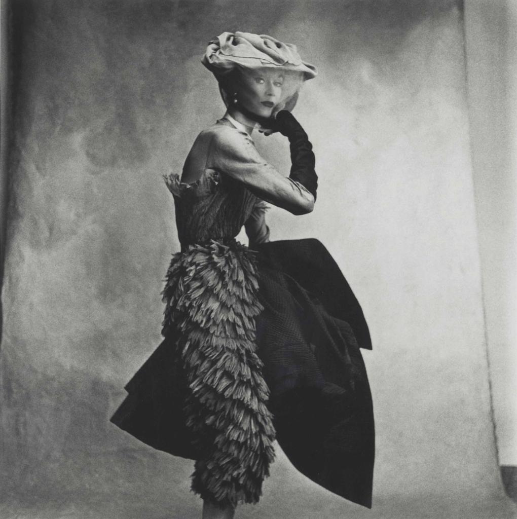 Irving Penn-Cocoa Dress (Balenciaga), Lisa Fonssagrives-Penn-1950