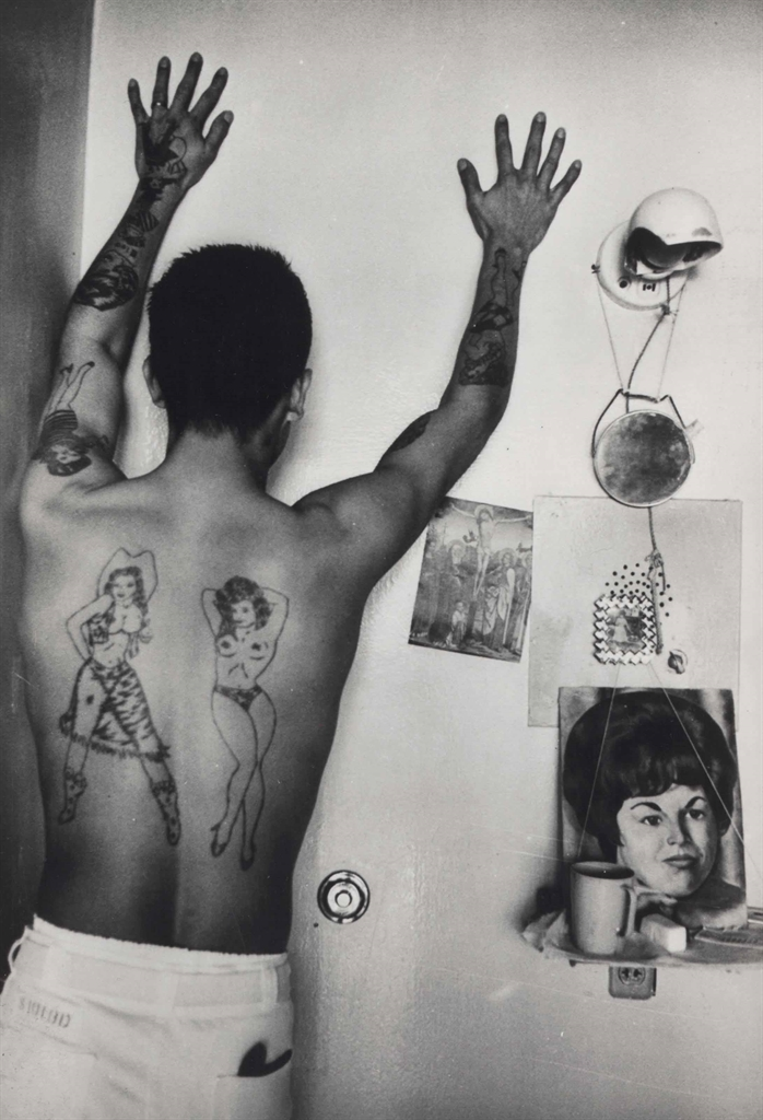 Danny Lyon-Prison Tattoos, the Ramsey Prison, Huntsville, Texas-1968